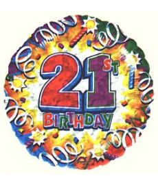 Birthday Explosion 21 Balloon