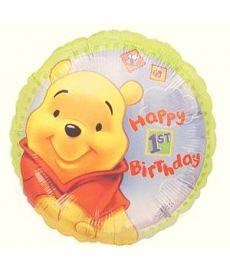 Pooh 1st Birthday Balloon