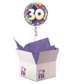 30th Birthday Balloon in a Box