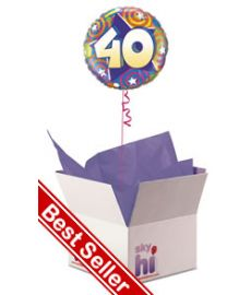 40th Birthday Balloon in a Box