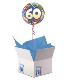 60th Birthday Balloon in a Box