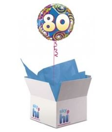 80th Birthday Balloon in a Box