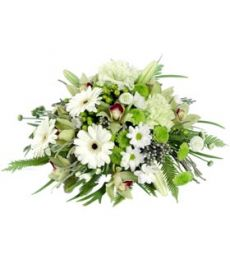 Green & White Posy