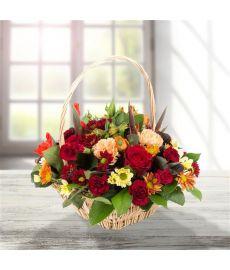 Deep Autumnal Basket Arrangement