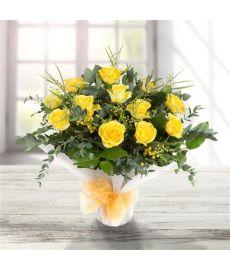 Dozen Long Stemmed Yellow Roses