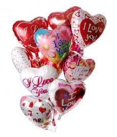 12 Valentine Balloons
