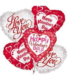 6 Valentine Balloon Bouquet