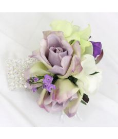 White Lilac Rose Corsage