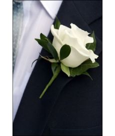 White Rose Gents Buttonhole