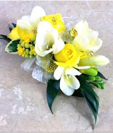 Lemon Luxury Corsage