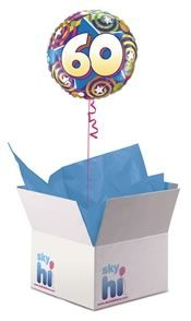 60th Birthday Balloon In A Box From Aprilflowersie